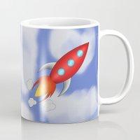 rocket Mugs featuring Rocket by PrisonBlockS