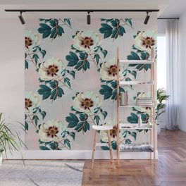 Flowery blooming with geometric Wall Mural