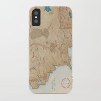 middle earth iPhone & iPod Cases featuring Map of Middle Earth by Kaz Palladino & Awkward Affections