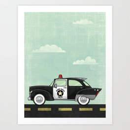 Atomic County Police Art Print