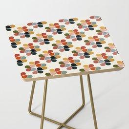 Retro geometry pattern Side Table