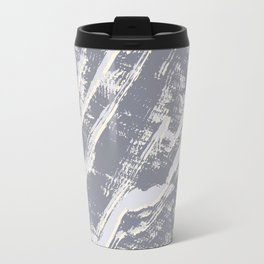 shades of gray marble effect Travel Mug