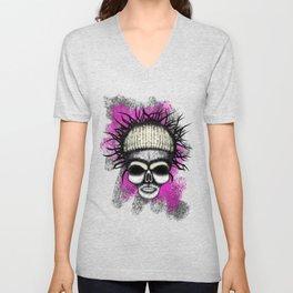 Yolandi style ErrorFace Skull Unisex V-Neck