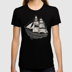 Wherever the wind blows Black Womens Fitted Tee MEDIUM