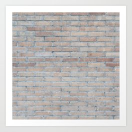 BRICK HOUSE WALL BRICKS PATTERN INTERIOR DESIGN GREY Art Print
