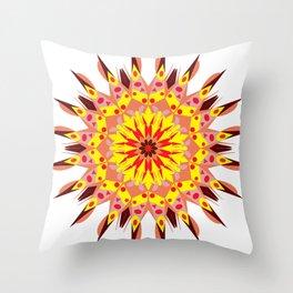 vintage sunflower mandala Throw Pillow