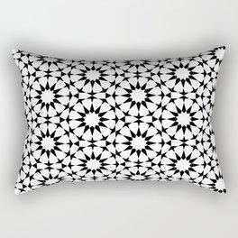 Arabesque in black and white Rectangular Pillow