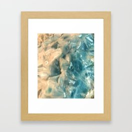 LARIMAR Raw Crystal Blue  (Said to Cool Anger & Calm Stress) from the Caribbean Framed Art Print