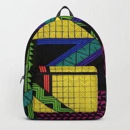 Color Block Geometric Patterns Backpack
