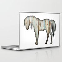 wooden Laptop & iPad Skins featuring Wooden horse by Vin Zzep