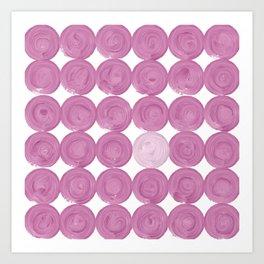 Pinker dot dot, dot pink Art Print