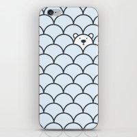 bear iPhone & iPod Skins featuring The Last Polar Bear by John Tibbott