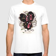 Tangle White MEDIUM Mens Fitted Tee