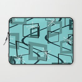 Mid Century Modern Minimalism Turquoise Laptop Sleeve