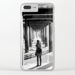 The girl at the pier Clear iPhone Case