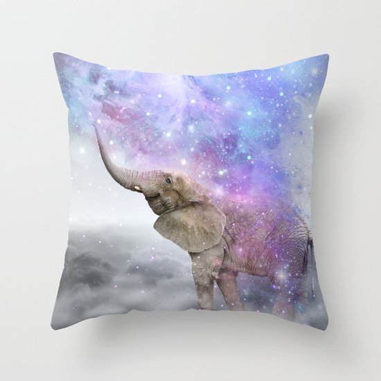 Don't Be Afraid To Dream Big • (Elephant-Size Dreams) Throw Pillow