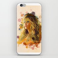 jennifer lawrence iPhone & iPod Skins featuring Jennifer Lawrence II by Rene Alberto