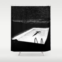 apollonia Shower Curtains featuring asc 593 - Le silence des cigales (The midnight lights) by From Apollonia with Love