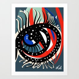 Magic Esoteric Graffiti Eye by Emmanuel Signorino Art Print