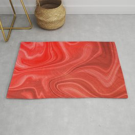 Red Swirl Marble Rug