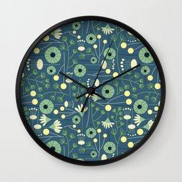 Freshly Cut - Blue Wall Clock