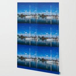 Columbia River Boat Reflection Wallpaper