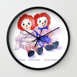 Raggedy Anne / Andy Wall Clock