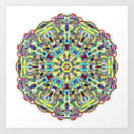 Beautiful Chrystal Glass Mandala Art Print