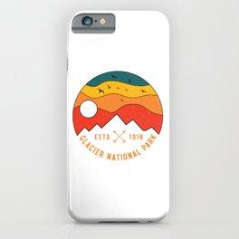Glacier National Park Retro Montana Mountain Souvenir Vintage 80s iPhone Case