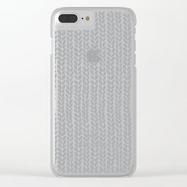 Knit Wave Grey Clear iPhone Case