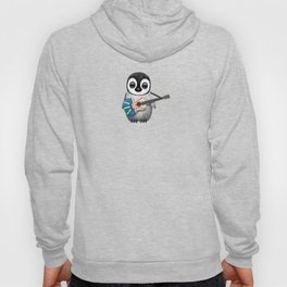 Baby Penguin Playing Newfoundland Flag Acoustic Guitar Hoody