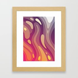 Inner stream | Fluid Psychedelic Contemporary Art Framed Art Print