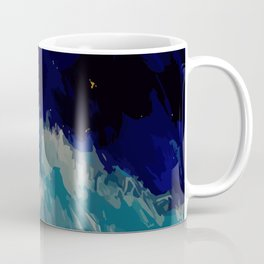 Painting of the wave at the night in a abstract and expressionist way Coffee Mug