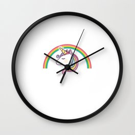 Unicorn Running Team Let's Be Magical Instead Gym Workout Wall Clock