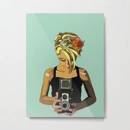 Lauren in the Sun Metal Print