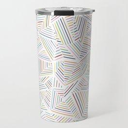 Abstraction Linear Rainbow Travel Mug
