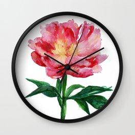 Peony I Wall Clock