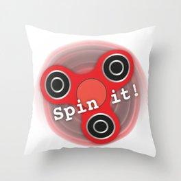 Fidget Spinner Spin it! Throw Pillow