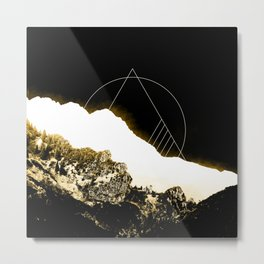 Golden Mountain Metal Print