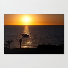 Sunset in Cyprus Canvas Print