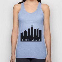 chicago skyline Unisex Tank Top