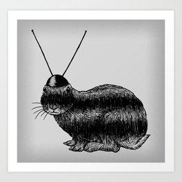 Fuzzy Reception Art Print