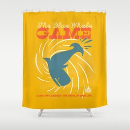 The Blue Whale Game Shower Curtain