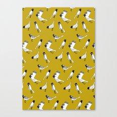 Bird Print - Mustard Yellow Canvas Print