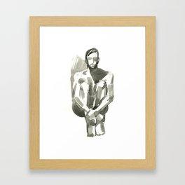 Figure, Seated Framed Art Print