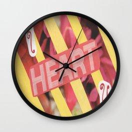 I Heart U. Wall Clock