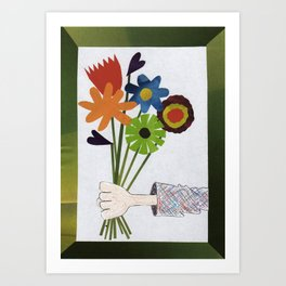 Flower Delivery Art Print