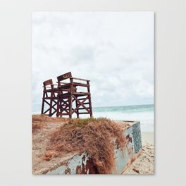 Beach Seats Canvas Print