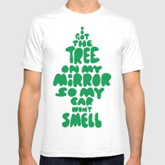 Trees Mens Fitted Tee White MEDIUM