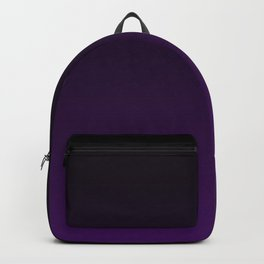 Black and Plum Gradient Backpack